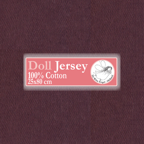 Doll Jersey 25x80cm Donker Bruin