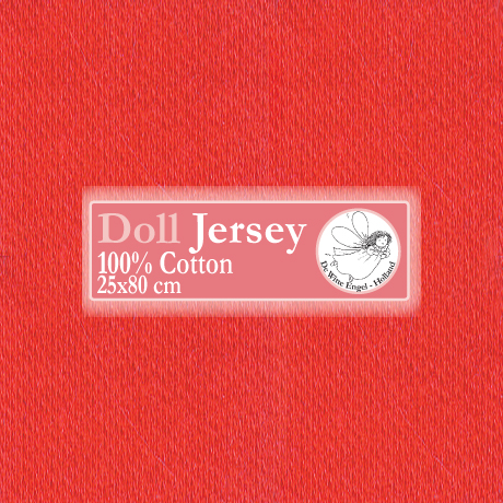 Doll Jersey 25x80cm Rood