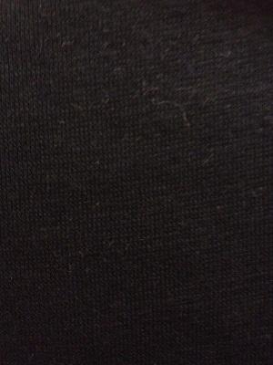 Katoenen boordstof Zwart 70cm Breed