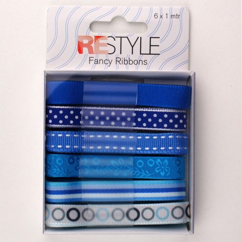 Fancy Ribbons 6x1m Blauw Assortie