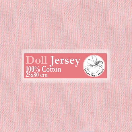 Doll Jersey 25x80cm Rose
