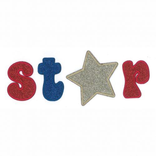 Applicatie Glitter Star 4-delig