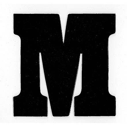 Flockletter M Zwart 6cm