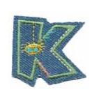 Appli;Fun letter Jeans K