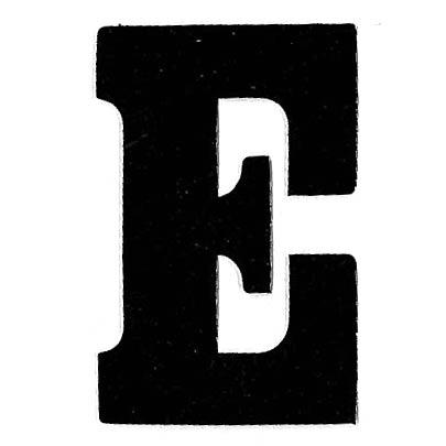 Flockletter E Zwart 6cm
