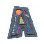 Appli;Fun letter Jeans A