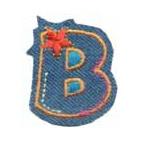 Appli;Fun letter Jeans B