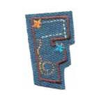 Appli;Fun letter Jeans F