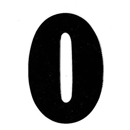 Flockletter O Zwart 6cm