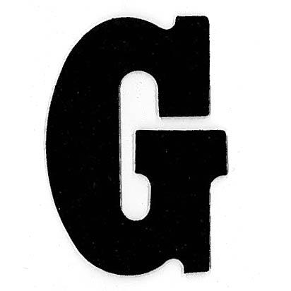 Flockletter G Zwart 6cm