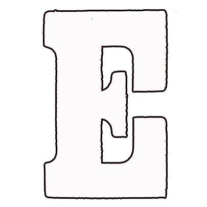 Flockletter E Wit 3.5cm