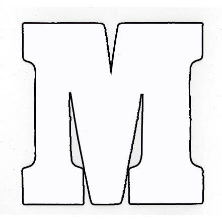 Flockletter M Wit 3.5cm