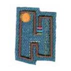 Appli;Fun letter Jeans H