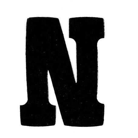 Flockletter N Zwart 6cm