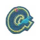 Appli;Fun letter Jeans Q