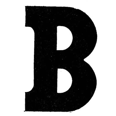 Flockletter B Zwart 6cm