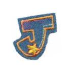 Appli;Fun letter Jeans J