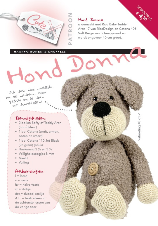 CD Haakpatroon Hond Donna