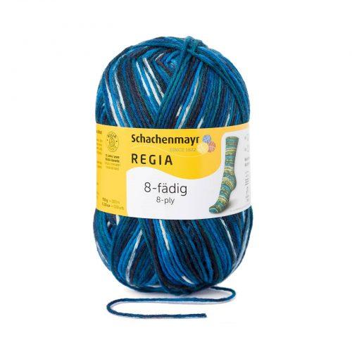 Wol;SMC Sokkenwol Regia Color Blauw-8135