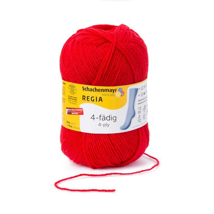 Wol;SMC Sokkenwol Regia Rood-2054