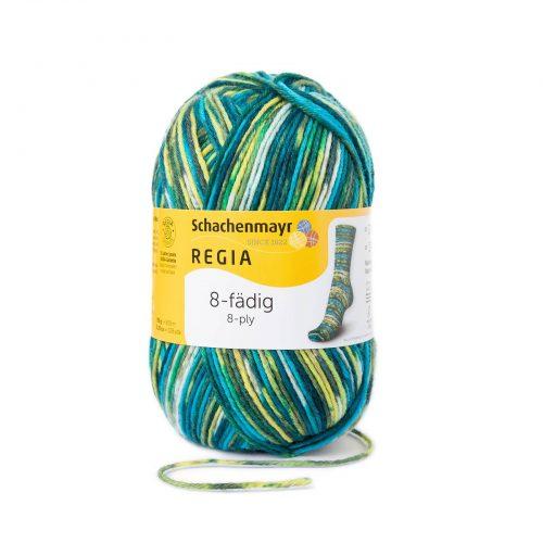 Wol;SMC Sokkenwol Regia Color Mosgroen-8137