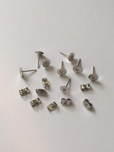 4 Paar Oorstekers 6mm Zilver