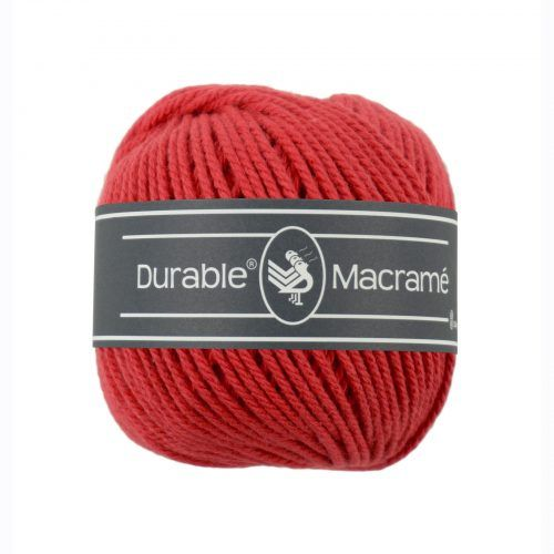 Durable Macrame 100gr Rood-316