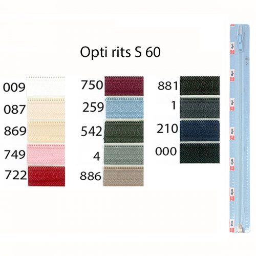 Rits;Opti-Lon S60 Donker Mosgroen-542