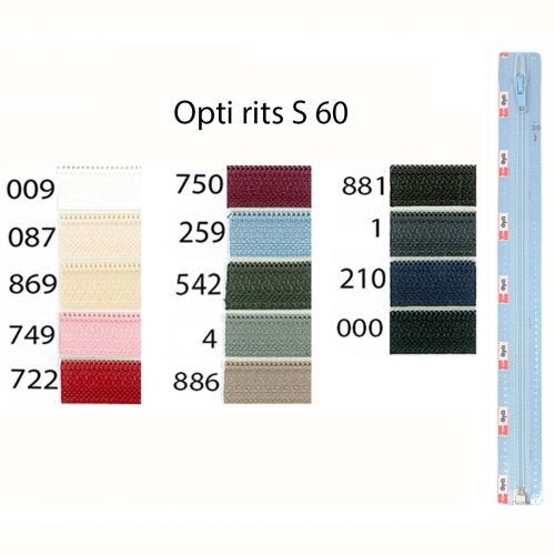 Rits;Opti-Lon S60 Zwart-000