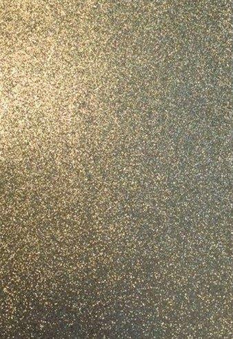 Foam/Rubber 22x30cm 5st Glitter Goud