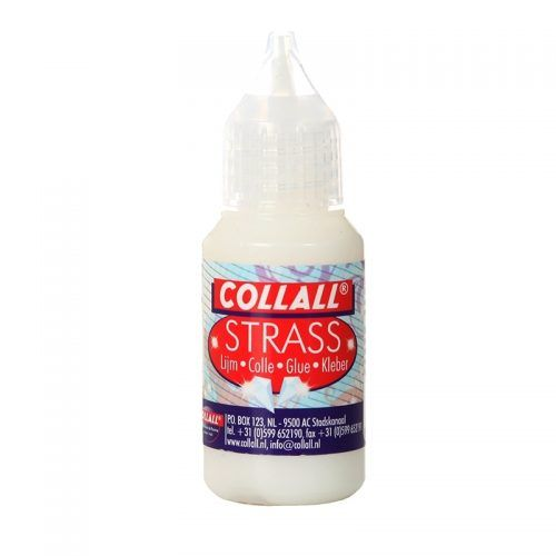 Collall Strass Lijm Melkwit 25ml
