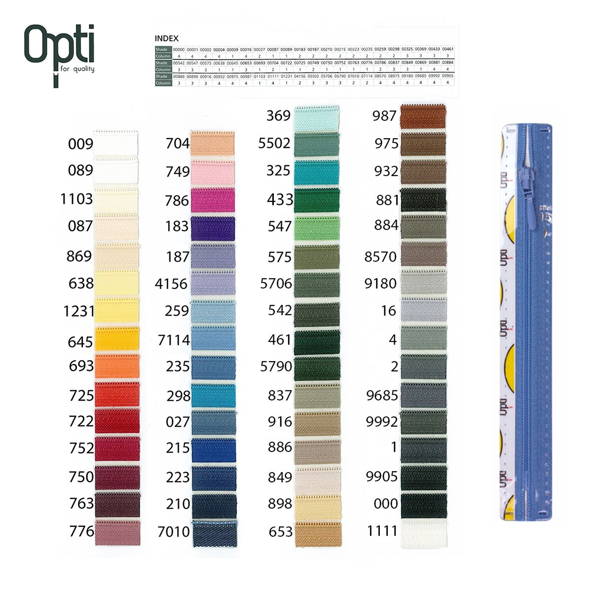 Rits;Opti-Lon S40 Mint Groen-325