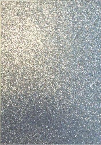 Foam/Rubber 22x30cm Glitter Zilver 1st