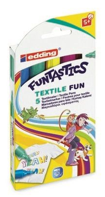 Textielverfstift Edding Funtastics 5st Assortie