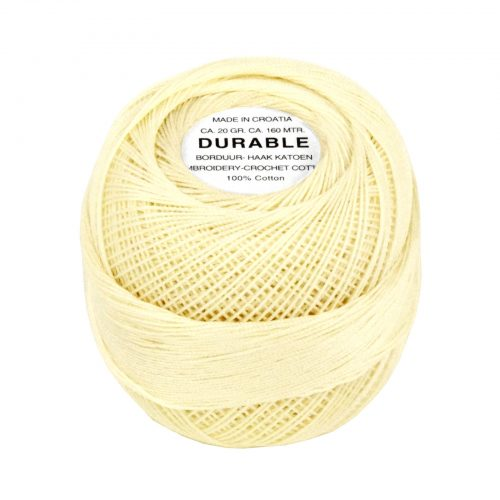 Durable Borduur-Haakkatoen Creme-1043