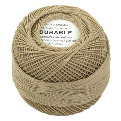 Durable Borduur-Haakkatoen Beige-1039