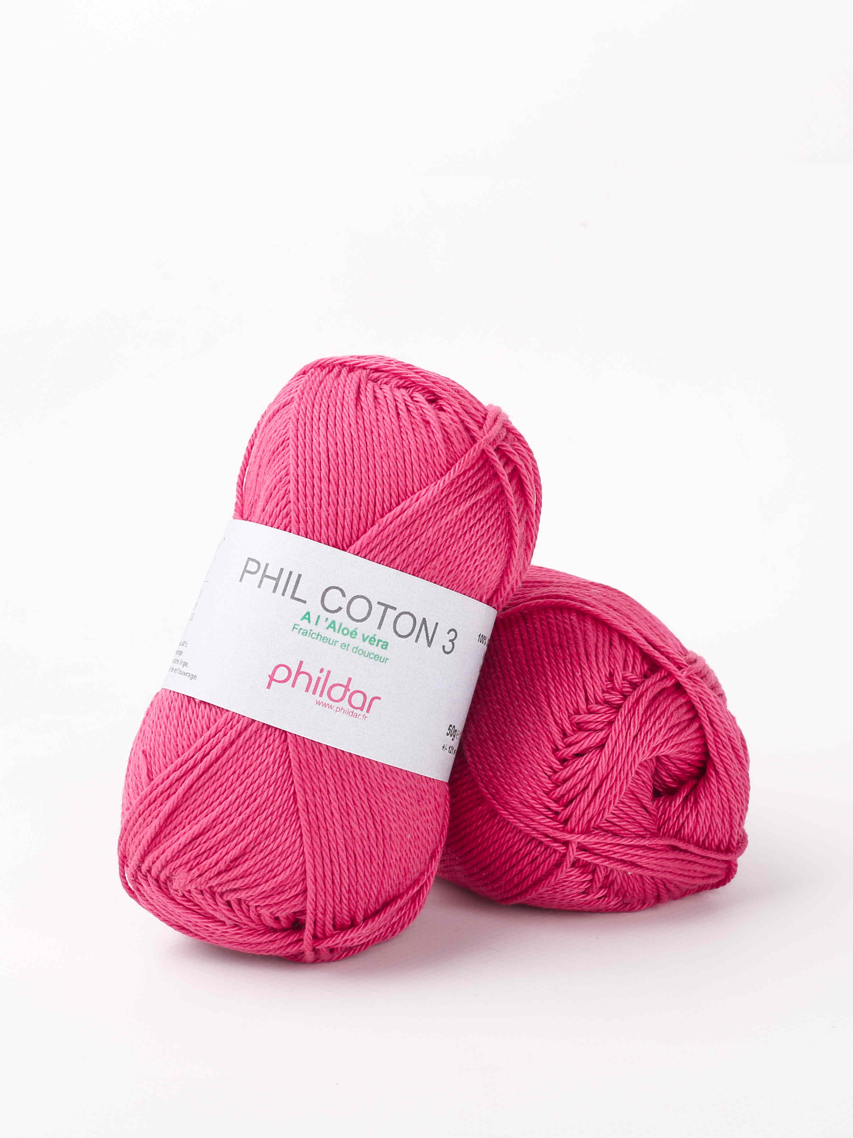 Wol;Phil Coton 4 Framboise
