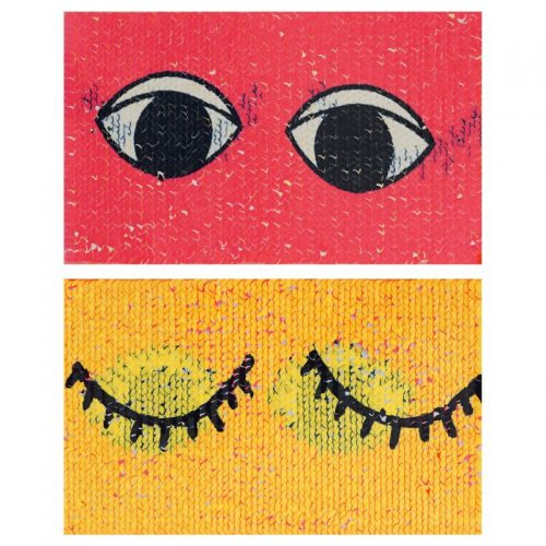 Applicatie Reversible Eyes 14x22cm