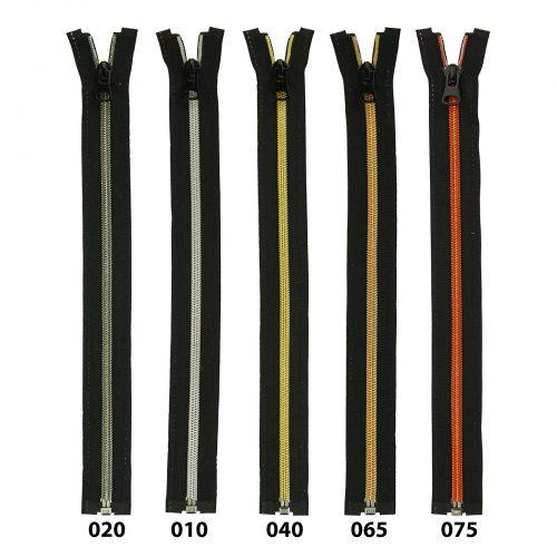 Spiraal Rits S70 Zwart/Zilver-010