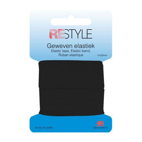 REStyle Elastiek 25mm 1m Zwart-000