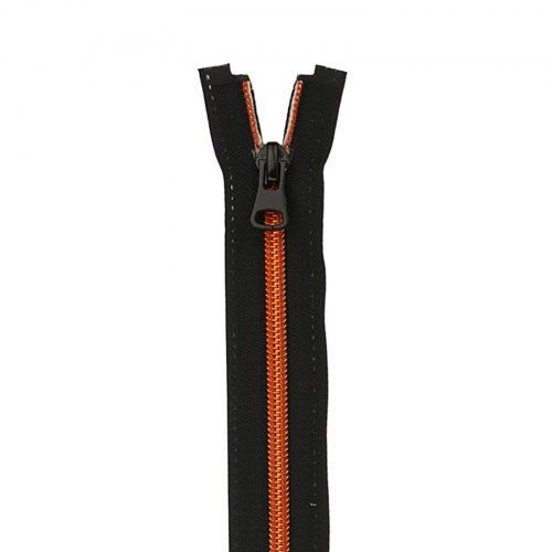 Spiraal Rits S70 Zwart/Rood Koper-075