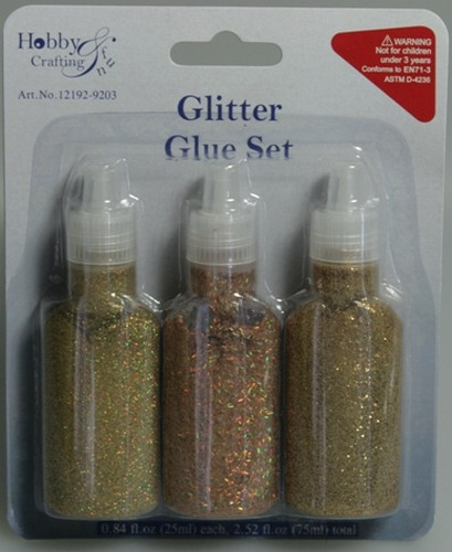 Glitter Writer 3x25ml Goud Assortie