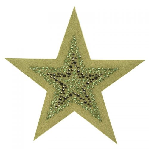 Applicatie Rhinestones Star Groen