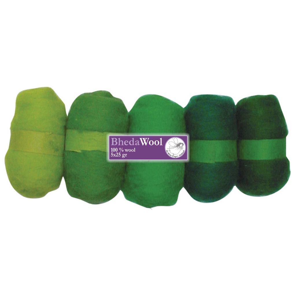 Bhedawol Assortie Groen 5x25gr