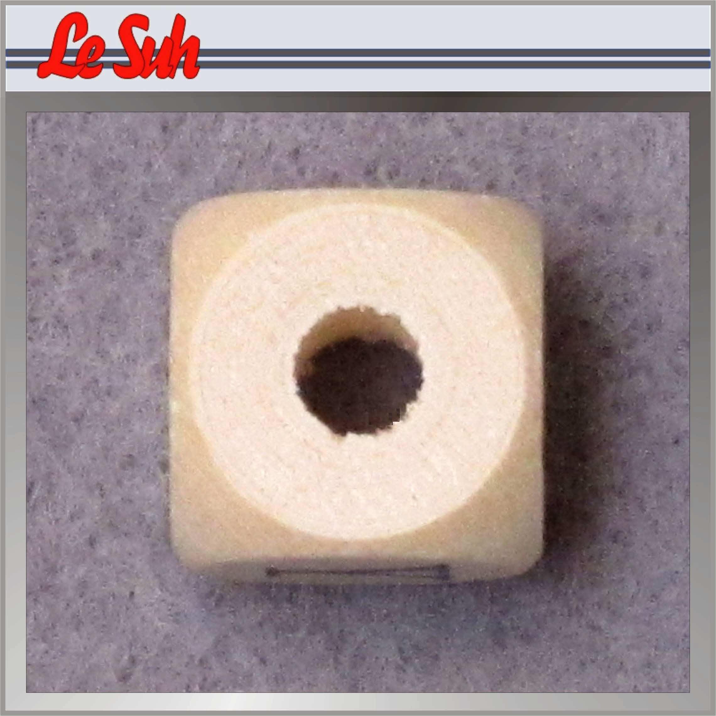 Kraal;Letter Dobbelsteen Naturel-M 10mm