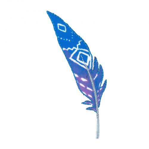 Applicatie Veer Paars/Blauw 10cm