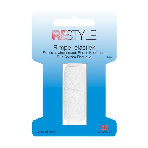 REStyle Rimpelelastiek 20m Wit-009
