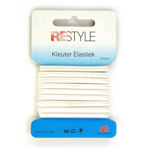 REStyle Kleuter Elastiek 5mm 3m Wit-009