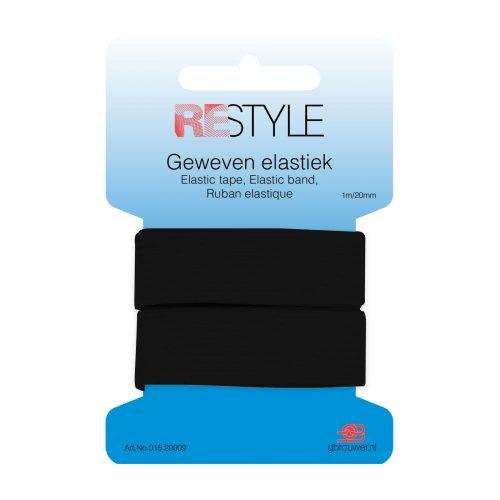 REStyle Elastiek 20mm 1m Zwart-000