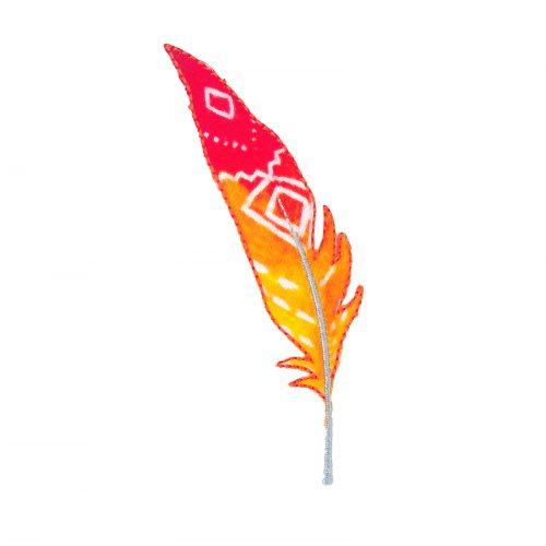 Applicatie Veer Oranje/Rood 10cm